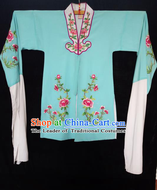 Traditional Chinese Peking Opera Costumes Blouse, China Beijing Opera Embroidered Flower Wearing for Women