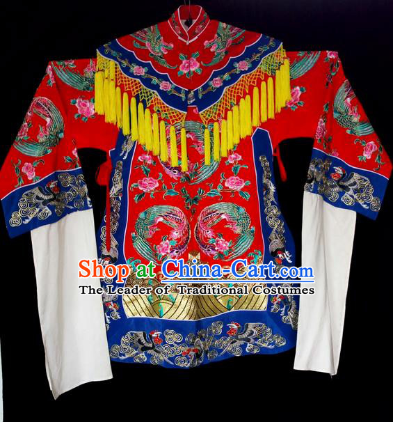 Traditional Chinese Peking Opera Imperial Concubine Costumes, China Beijing Opera High-grade Embroidered Cloud Shoulder Wearing Ceremonial Robe for Women