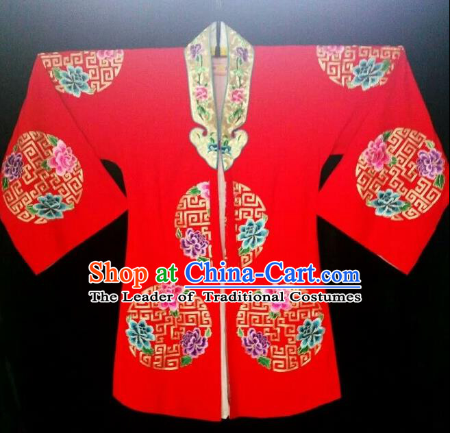Traditional Chinese Peking Opera Costumes, China Beijing Opera High-grade Embroidered Mission Flower Wearing Ming Dynasty Ceremonial Robe for Women