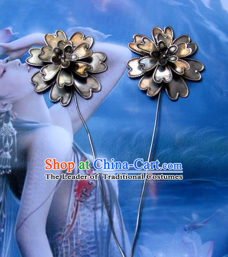 Traditional Chinese Ancient Classical Handmade Hair Accessories Hanfu Headwear Hairpins Palace Tang Dynasty Princess Bride Hair Claw for Women