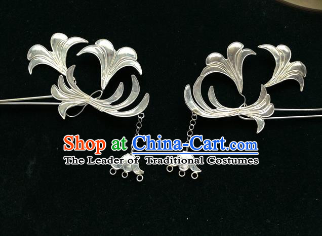 Traditional Chinese Ancient Classical Handmade Hair Accessories Hanfu Headwear Device filaments Hairpins Palace Tang Dynasty Princess Bride Hair Claw for Women