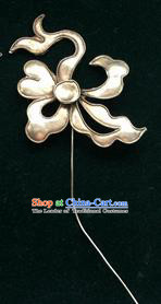 Traditional Chinese Ancient Classical Miao Silver Handmade Hair Accessories Flower Hairpin Hair Fascinators for Women