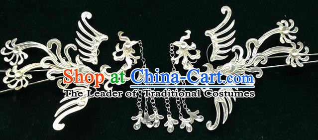 Traditional Chinese Ancient Classical Handmade Hairpin Jewelry Accessories Hanfu Phoenix Combs and Sticks for Women