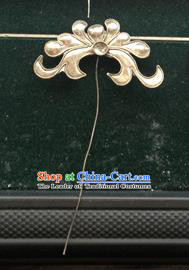 Traditional Chinese Ancient Classical Miao Silver Handmade Hair Accessories Little Hairpin Hair Fascinators for Women