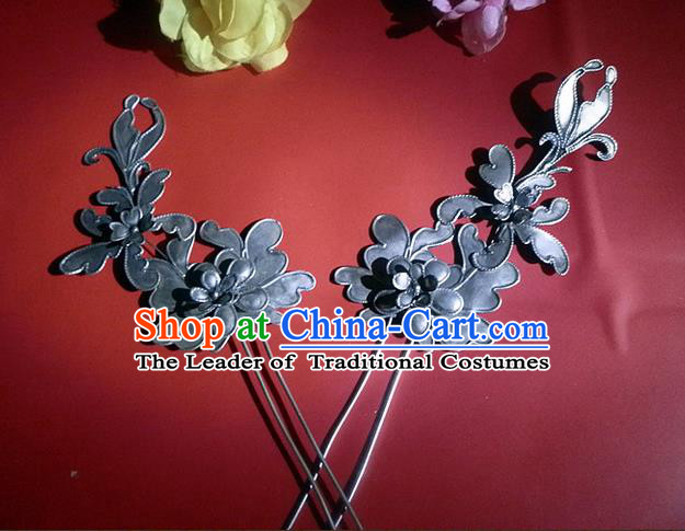 Traditional Chinese Ancient Classical Handmade Hairpin Jewelry Accessories Hanfu Classical Palace Combs and Sticks for Women