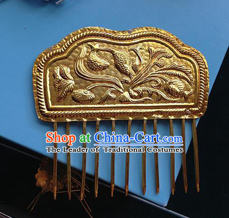Traditional Handmade Chinese Ancient Classical Hair Accessories Barrettes Hairpins, Hair Sticks Jewellery, Bride Hair Combs for Women