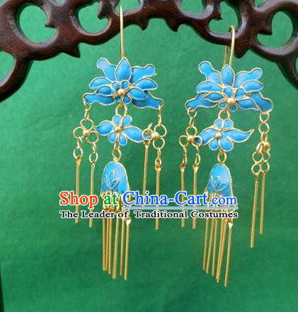 Traditional Handmade Chinese Ancient Classical Earrings Accessories Palace Hanfu Eardrops for Women
