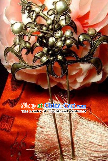 Traditional Handmade Chinese Ancient Classical Hair Accessories Barrettes Hairpins Hair Claw Hair Sticks for Women