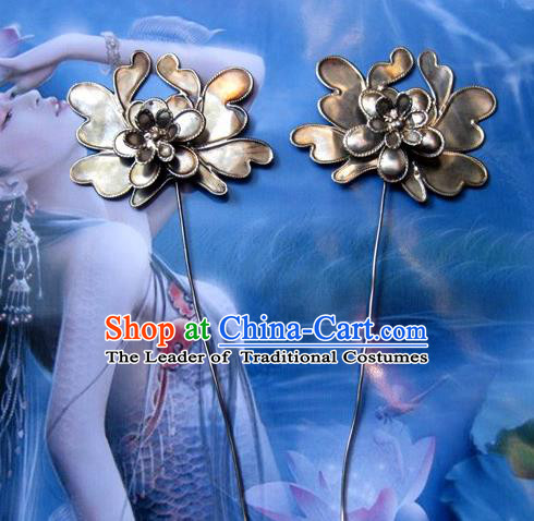 Traditional Handmade Chinese Ancient Classical Hair Accessories Flower Barrettes Hair Sticks, Hair Fascinators Hairpins for Women