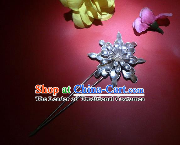 Traditional Handmade Chinese Ancient Classical Hair Accessories Chrysanthemum Step Shake Barrettes Hair Sticks for Women