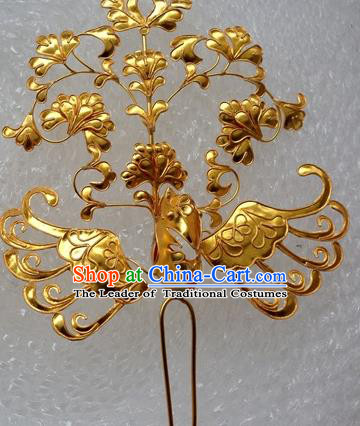 Traditional Handmade Chinese Ancient Classical Hair Accessories Phoenix Barrettes Hairpins, Hair Sticks Jewellery for Women