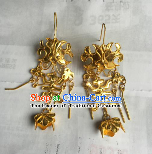 Traditional Handmade Chinese Ancient Classical Accessories Earrings Eardrop for Women