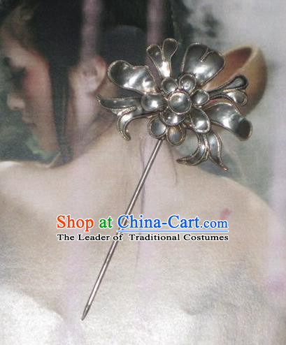 Traditional Handmade Chinese Ancient Classical Hair Accessories Barrettes Hairpin, Step Shake Hair Sticks, Hair Claws Hairpins for Women