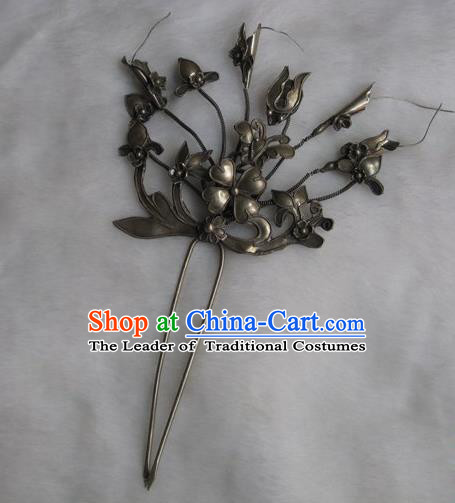 Traditional Handmade Chinese Ancient Classical Hair Accessories Barrettes, Flower Hairpin Step Shake Hair Sticks Hair Fascinators for Women