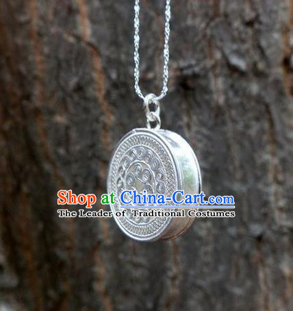 Traditional Handmade Chinese Ancient Classical Accessories Miao Nationality Pendant Sweater Chain Pendent for Women