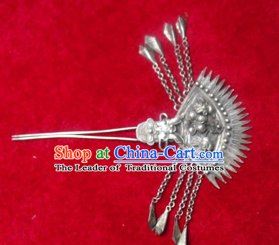 Traditional Handmade Chinese Ancient Classical Hair Accessories Barrettes Hairpin, Step Shake Headwear, Hair Claw Hairpins for Women