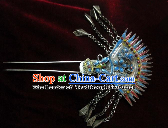 Traditional Handmade Chinese Ancient Classical Hair Accessories Barrettes Hairpin, Tassel Step Shake Headwear, Hair Claw Hairpins for Women