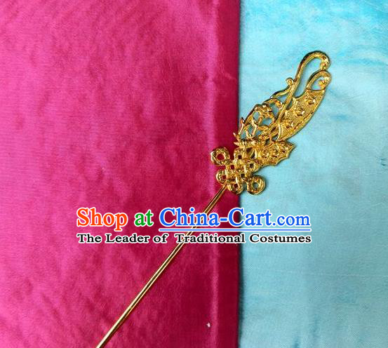 Traditional Handmade Chinese Ancient Classical Hair Accessories Barrettes Manchu Imperial Princess Golden Hairpins Step Shake Hair Ornament for Women