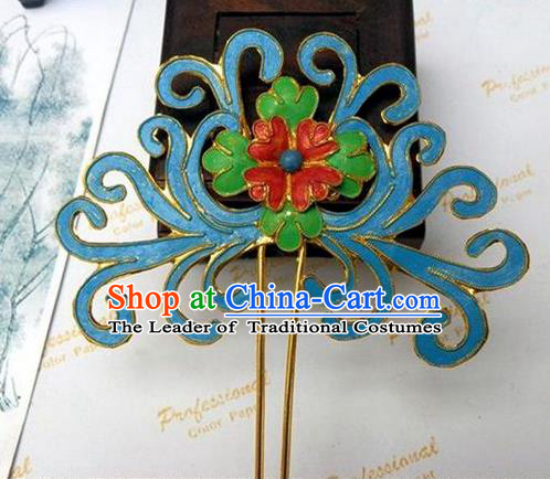 Traditional Handmade Chinese Ancient Classical Hair Accessories Barrettes Hanfu Hairpins, Beijing Opera Step Shake Hair Sticks Hair Jewellery for Women