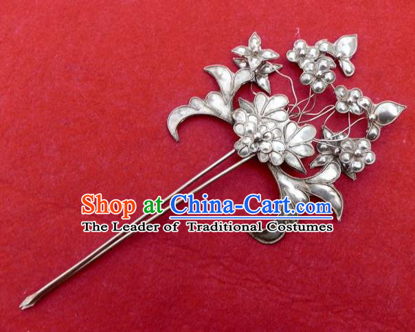Traditional Handmade Chinese Ancient Classical Hair Accessories Headwear Barrettes Hanfu Hairpins, Imperial Step Shake Hair Sticks Hair Jewellery for Women