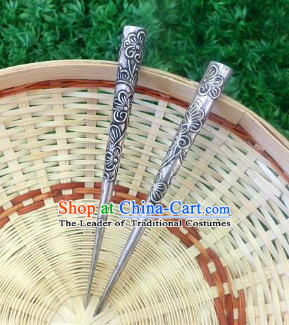 Traditional Handmade Chinese Ancient Classical Hair Accessories Headwear Barrettes Hanfu Plantain Lily Hairpins, Ming Dynasty Imperial Step Shake Hair Sticks Hair Jewellery for Women