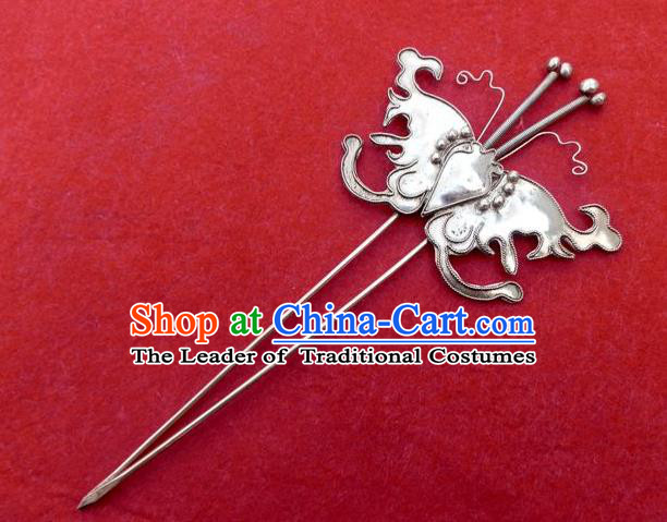 Traditional Handmade Chinese Ancient Classical Hair Jewelry Accessories, China Hanfu Butterfly Hair Ornament Hairpins Ming Dynasty Imperial Princess Barrettes Hair Stick for Women