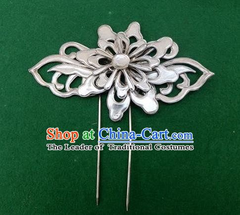 Traditional Handmade Chinese Ancient Classical Hair Jewellery Accessories Flower Barrettes, Ming Dynasty Wedding Hair Sticks Hair Fascinators Hairpins for Women