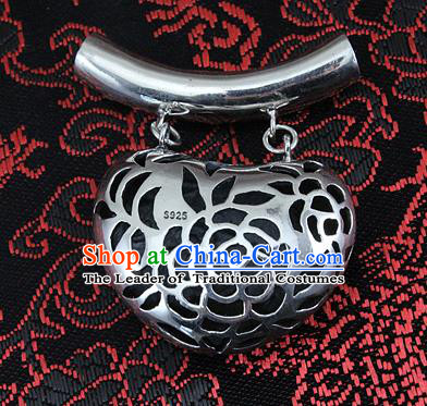 Traditional Handmade Chinese Ancient Classical Accessories Sliver Pendant Pendent for Women
