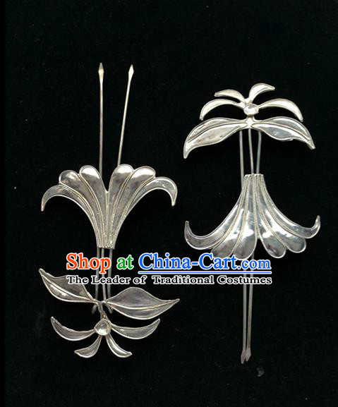Traditional Handmade Chinese Ancient Classical Hair Jewellery Accessories Barrettes, Step Shake Hair Sticks Flower Hairpins for Women