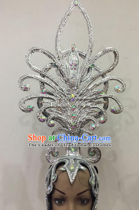 Top Grade Halloween Parade Hair Accessories Brazilian Rio Carnival Samba Dance Headwear for Women