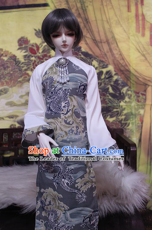 Top Grade Traditional China Ancient Young Lady Costumes Cheongsam, China Ancient Cosplay Qipao Clothing for Adults and Kids