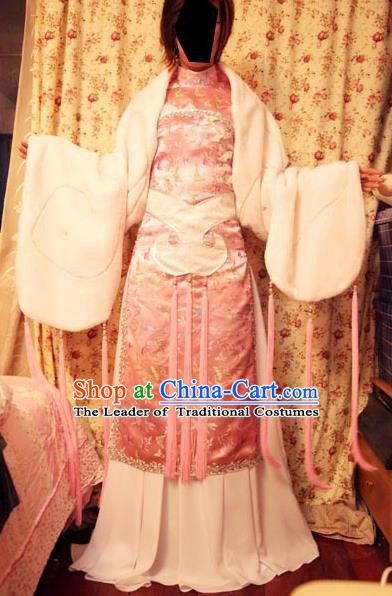 Top Grade Traditional China Ancient Fairy Costumes, China Ancient Cosplay Princess Pink Dress Clothing for Women
