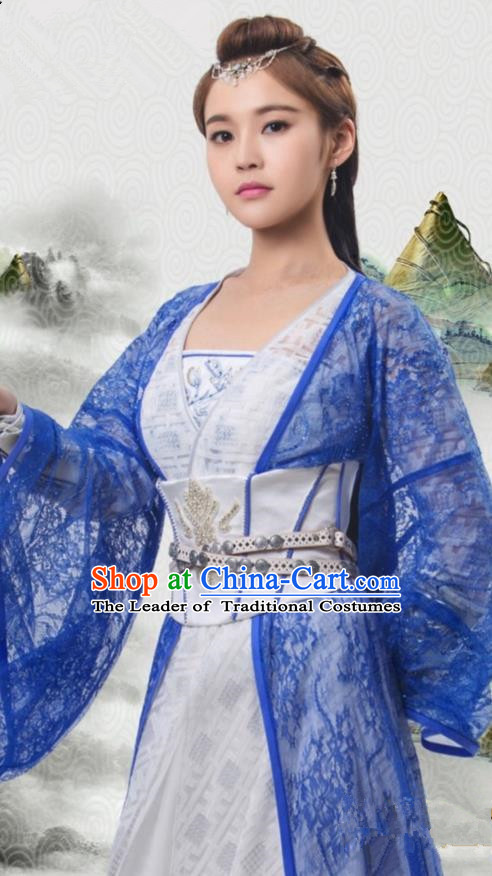 Traditional Ancient Chinese Tang Dynasty Young Lady Costume, Xuanyuan Sword Han Cloud Imperial Princess Clothing and Headpiece Complete Set