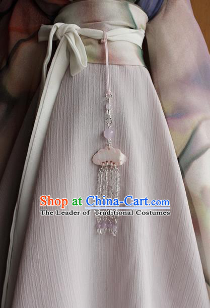 Top Grade Traditional China Ancient Palace Jade Accessories Pendant, China Ancient Swordsman Tassel Waist Pendant