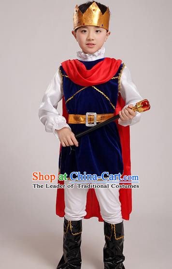 Top Grade Chinese Professional Halloween Performance Costume, Children Cosplay King for Kids