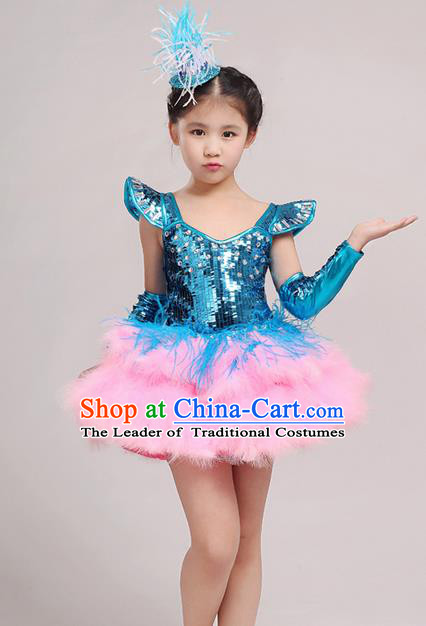 416c73b14 Red Jazz Costumes   MBQ839 Girlu0027s Red Sequin Sexy Solider Jazz ...