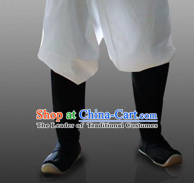 Chinese Ancient Peking Opera Strong Cloth Soles Shoes, Traditional Chinese Beijing Opera Boots for Men