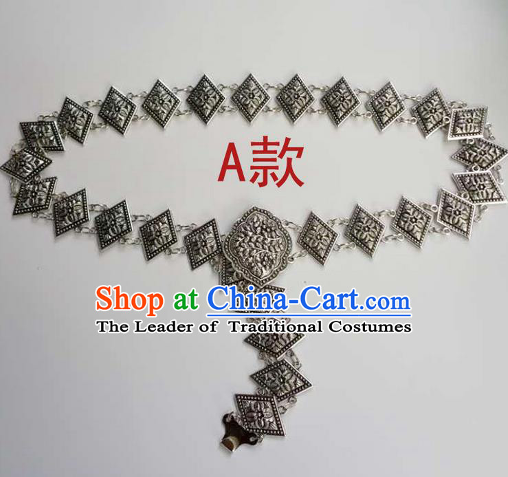 Traditional Thailand Ancient Handmade Waist Accessories, Traditional Thai China Dai Nationality Belts Pendant for Women