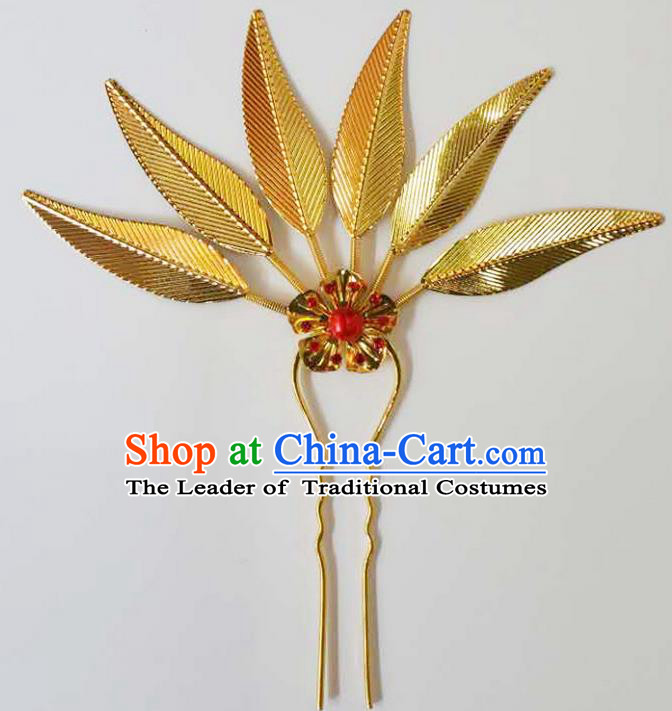 Traditional Thailand Ancient Handmade Hair Accessories Headpiece, Traditional Thai China Dai Nationality Hairpins Headwear for Women