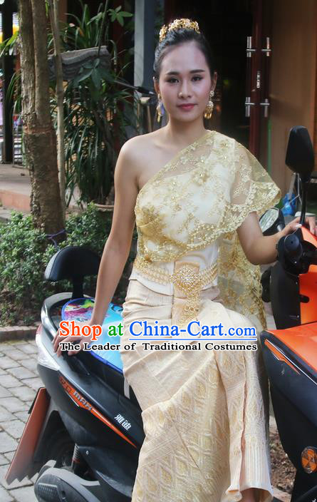 Traditional Thailand Clothing Southeast Asia Thai Ancient Costumes and Hair Accessories Sari