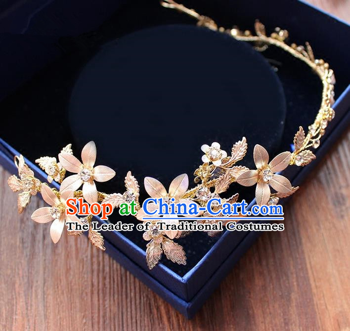 Top Grade Handmade Wedding Bride Hair Accessories Headwear Crystal Hair Clasp, Traditional Princess Baroque Hair Stick Headpiece for Women