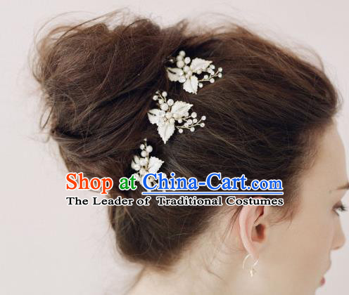 Top Grade Handmade Wedding Bride Hair Accessories Hair Stick, Traditional Princess Baroque Hair Clips Butterfly Headpiece for Women