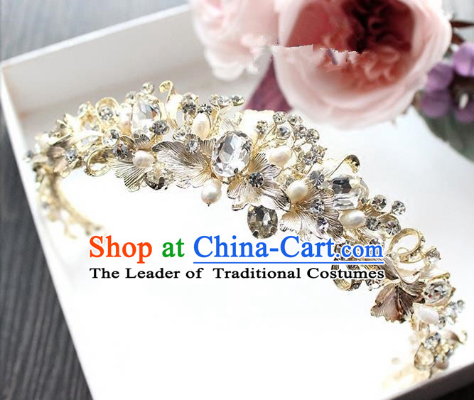 Top Grade Handmade Wedding Bride Hair Accessories Crystal Hair Clasp, Traditional Princess Baroque Hair Stick Headpiece Hairpins for Women