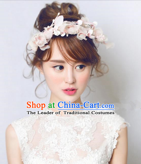 Top Grade Handmade Wedding Bride Hair Accessories Flower Hair Clasp, Traditional Princess Baroque Hair Stick Headpiece Hairpins for Women