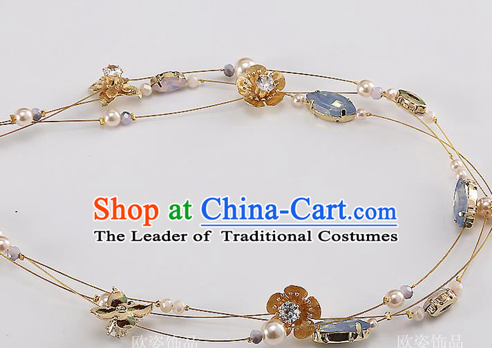 Top Grade Handmade Wedding Hair Accessories Bride Crystal Headband Hair Clasp, Traditional Baroque Princess Headdress for Women