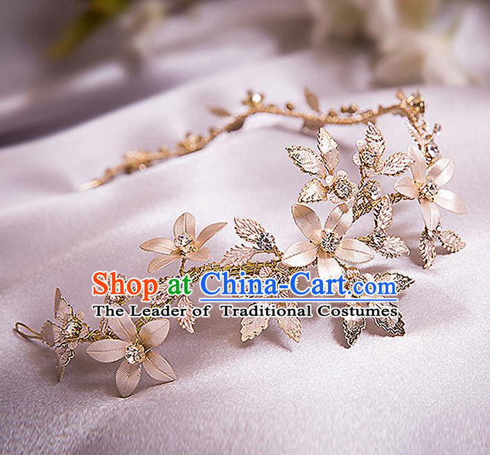 Top Grade Handmade Wedding Dragonfly Hair Accessories Bride Hair Clasp, Traditional Baroque Princess Headband Headpiece for Women