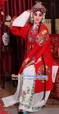 Traditional Chinese Beijing Opera Young Lady Wedding Clothing, China Peking Opera Hua Tan Robe Opera Bride Costumes