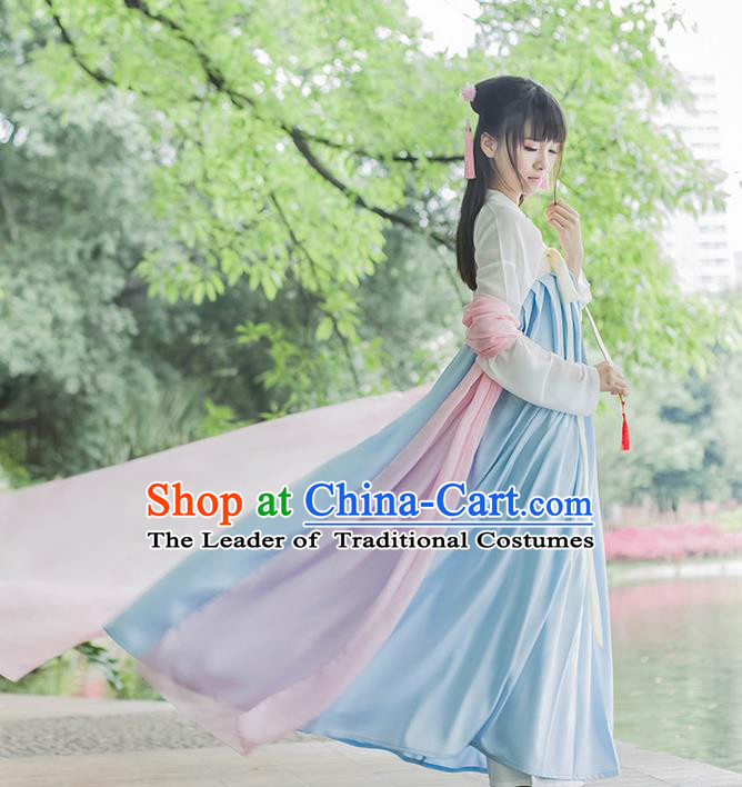 Traditional Chinese Tang Dynasty Palace Princess Costume, Elegant Hanfu Clothing On Ru Under Slip Skirt, Chinese Ancient Princess Clothing for Women