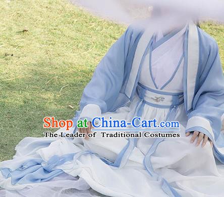 Traditional Chinese Swordsman Costume, Elegant Hanfu Cosplay Nobility Childe Clothing Ancient Chinese Prince Dress for Men