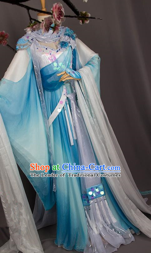 Traditional Chinese Tang Dynasty Nobility Lady Costume, Elegant Hanfu Cosplay Imperial Princess Clothing Ancient Chinese Dress for Women